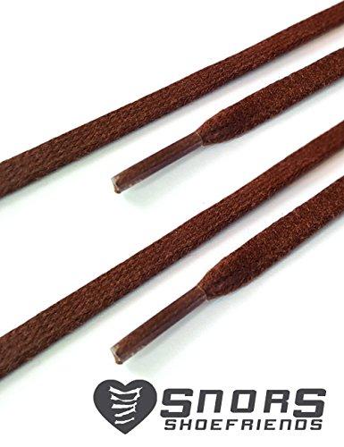 Stringhe Colorati 5mm Ca Colorate Cerate Marrone Piatti Snors Lacci Scarpe Per wUE8BqSB