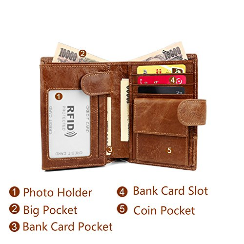 22ebb3c2aafb Wallet for Men - BILIGO Extra Capacity Genuine Leather RFID Blocking Bifold  Stylish Pocket Wallet With 2 ID Window Card Case & Photo Holder