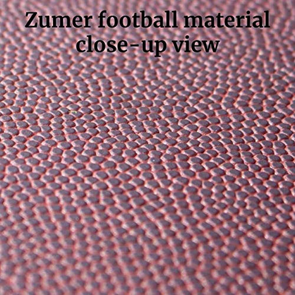 Brown Shoe Compartment Made from Genuine Football Materials Zumer Sport Florida Gators Football Leather Travel Kit Duffel Gym Bag Shoulder Strap and Handles