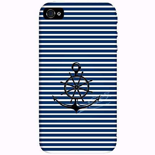 Coque Apple Iphone 4-4s - Ancre Barre Marine