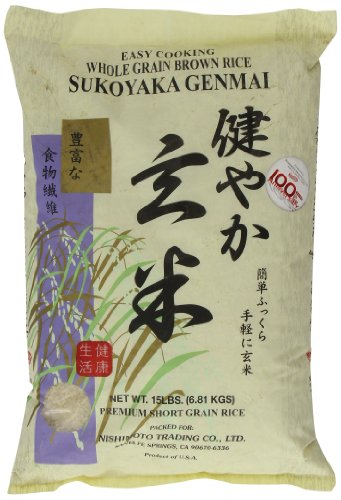 Sukoyaka Brown Rice, Genmai, 15-Pound