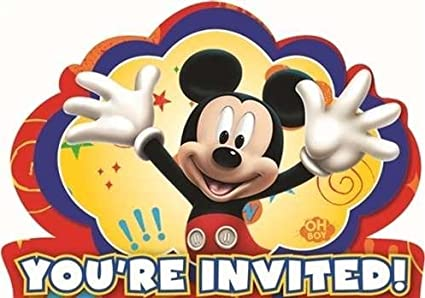 Image Unavailable Not Available For Color Mickey Mouse Clubhouse Novelty Party Invitations