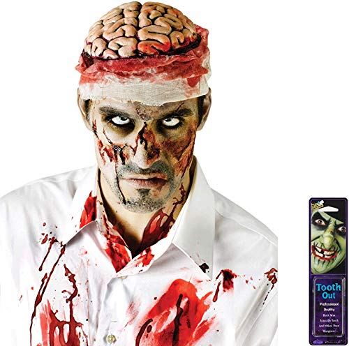 Potomac Banks Bundle: 2 Items - Bloody Brain Headpiece and Free Pack of Makeup -