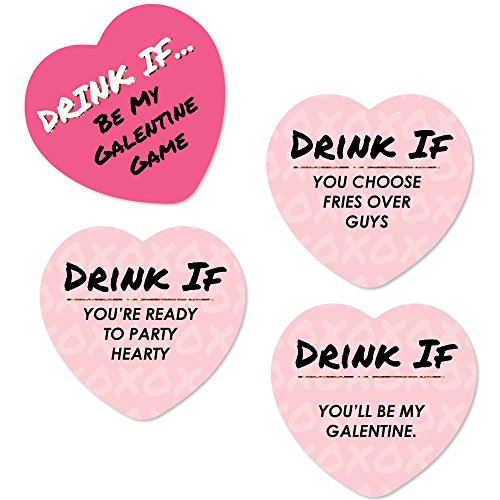 Drink If Game - Be My Galentine - Valentine's Day Party Game - 24 Count -