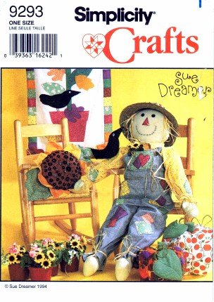 Amazon.com: Simplicity 9293 Crafts Sewing Pattern Scarecrow Pumpkin ...