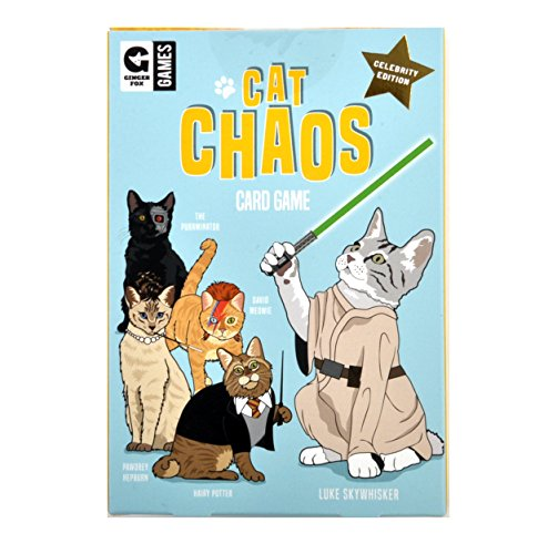 Cat Chaos Card Game - Celebrity Edition with Hairy Potter David Meowie Luke Skywhisker (Meowie Christmas Cat)