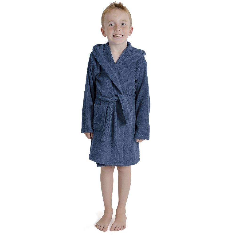 Sockstack Kids Towelling Robes, 100% Cotton Boy Girls Hooded Dressing Gown Robe RZK TEXTILES