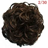 GOMOWIG Hair Bride Bun Ring Dount Curly For Pick Clip On Ponytail 2/30