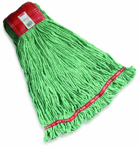 Rubbermaid Commercial Web Foot Shrinkless Wet Mop, Large, Green, FGA25306GR00