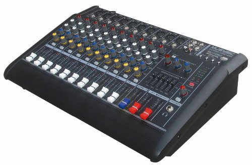 10 Channels 2000W Professional Power Mixer Amplifier USB & SD SLOT KARAOKE PA SYSTEM by MUSYSIC