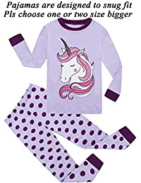 Little Girls Snug Fit Pajamas Mermaid Sleepwear 100% Cotton Long Toddler Pjs