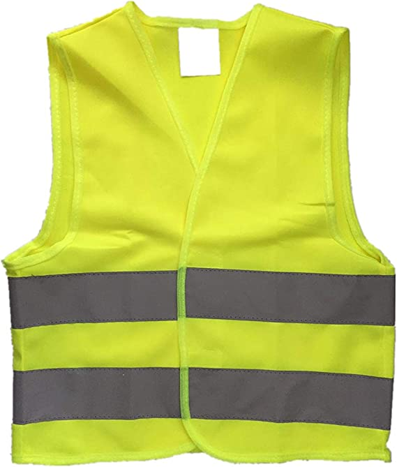 Fit for Boys /& Girls Walking or Back to School, Reflective Strips Dazonity Childrens High Visibility Safety Vest