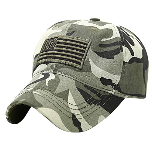 Dressin Unisex Baseball Cap Trucker Special Tactical Operator Forces USA Flag Patch Hats Indenpence Day Flag Cap Green (Bag Bowler Canvas)