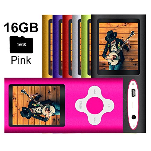 G.G.Martinsen Pink Versatile MP3/MP4 Player with a Micro SD Card