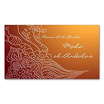 Carte De Visite Oriental Arabe Style Henne