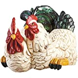 Hand Painted Rooster And Hen Shelf Dcor