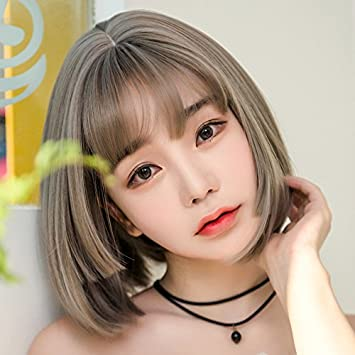 Amazon Com Wig Women Girls Female Short Hair Round Face Handsome