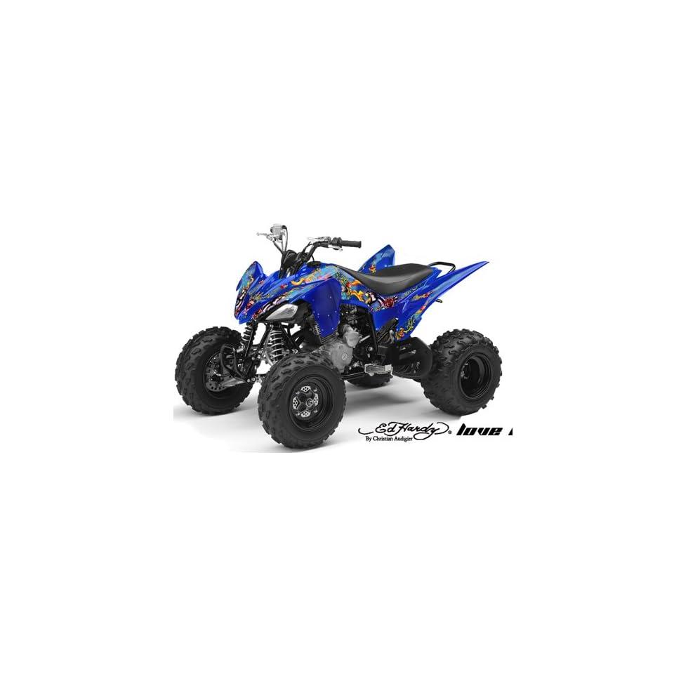 Ed Hardy AMR Racing Yamaha Raptor 250 ATV Quad Graphic Kit   Love Kills Slowl