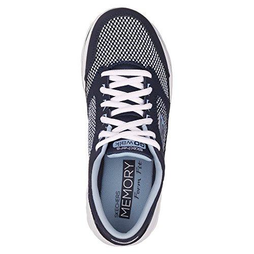 Skechers Go Walk Verve mujer ata las zapatillas de deporte Navy/Light Blue