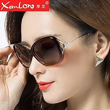 0f0e89d5f00095 Komny fashion femme Lunettes femme visage rond biais marée Lunettes lunettes  de star et couleur thé