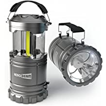 HeroBeam LED Lantern V2.0 with Flashlight - Latest COB Technology emits 300 LUMENS! - Collapsible Camp Lamp - Great Light for Camping, Car, Shop, Attic, Garage - 5 Year Warranty