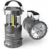 2 x HeroBeam LED Lantern V2.0 with Flashlight - Latest COB Technology emits 300 LUMENS! - Collapsible Tough Lamp - Great Light for Camping, Car, Shop, Attic, Garage - 5 YEAR WARRANTY
