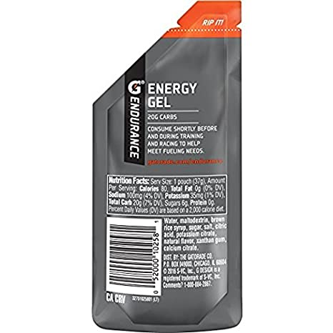 Amazon.com : Gatorade Endurance Energy Gel, Vanilla, 1 Count, 1.3 oz Pouch : Grocery & Gourmet Food