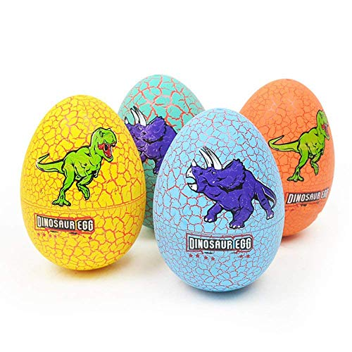 Sasitober 1 Pack of Simulated Egg Dinosaurs Dinosaur Animals Unexpected Animal Models for Kids Educational Toys - Random Colors ()
