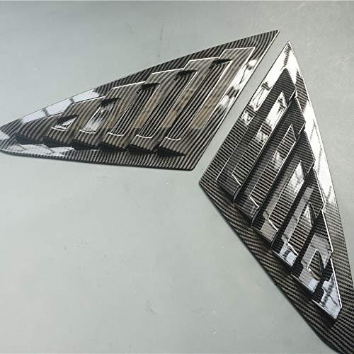 2X Sport Style Carbon Fiber Print Quarter Window Scoops Louvers for Ford Focus Sedan MK3 2012-2018