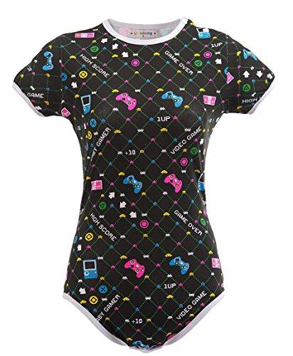Littleforbig Adult Baby Diaper Lover Snap Crotch Romper Onesie -Baby Gamer Onesie (XXL, Black) by Littleforbig (Image #4)