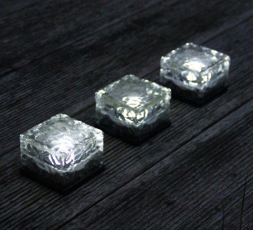 Frostfire Solar Ice Rocks Path and garden solar lights Set of 3