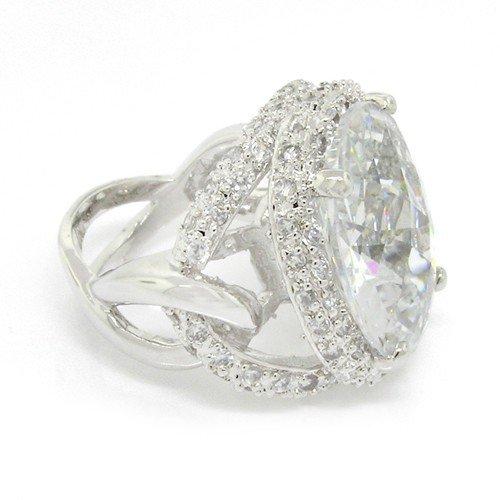 Superstar Silver Ring w/White Topaz CZ