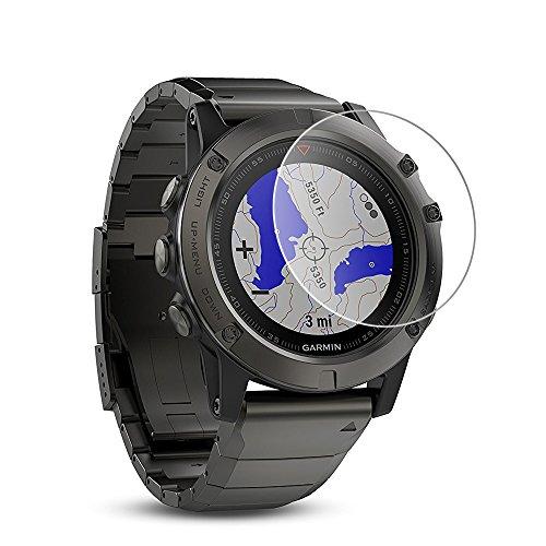 Wrcibo [2-Pack] Garmin Fenix 5X Protector de Pantalla, 9H 0,26mm Premium Vidrio Templado Protector de Pantalla Transparente Cristal Anti-scratch Anti-rasguñe Protector de Pantalla Reloj inteligente