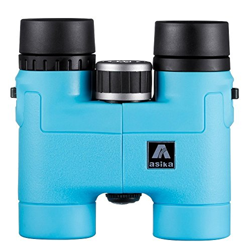 BNISE Asika 8x32 HD Binoculars - Military Telescope for Hunting and Travel - Compact Folding Pocket Size - High Clear Vision - Blue