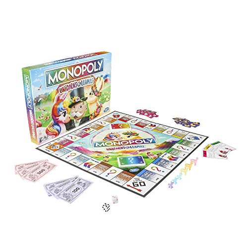 Monopoly Unicorns Vs Llamas Game Now $13.99