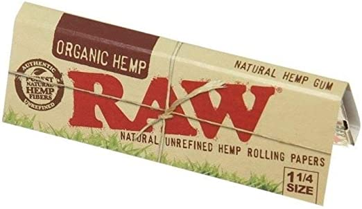 RAW Organic 1 1/4 Rolling Papers Pack of 4 by Raw: Amazon.es: Hogar