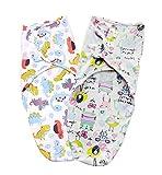 Conoza Cotton Baby Wraps Premium Quality Swaddle Blanket Set 2 Pack (0-3 ...
