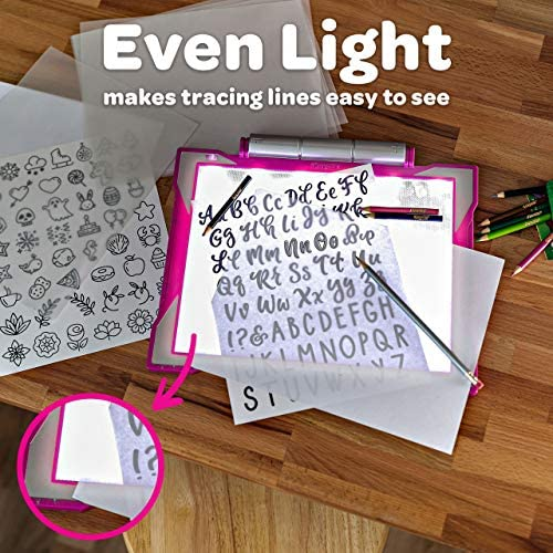 Light Up Tracing Pad Pink Gift for Girls & Boys
