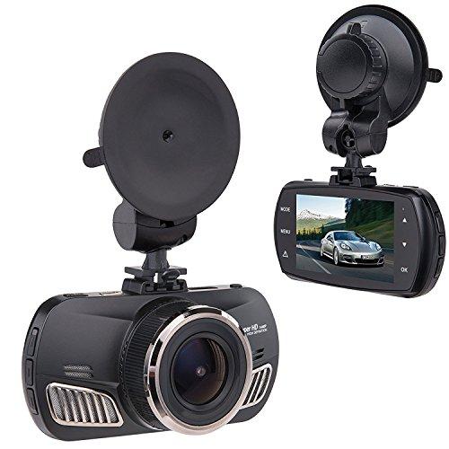 "Saimly 2.7"" Car Dash Cam, Ambarella A12 Super HD 1440P 170 Degree Wide car camera Recorder G-sensor Support up to 512GB TF Card"