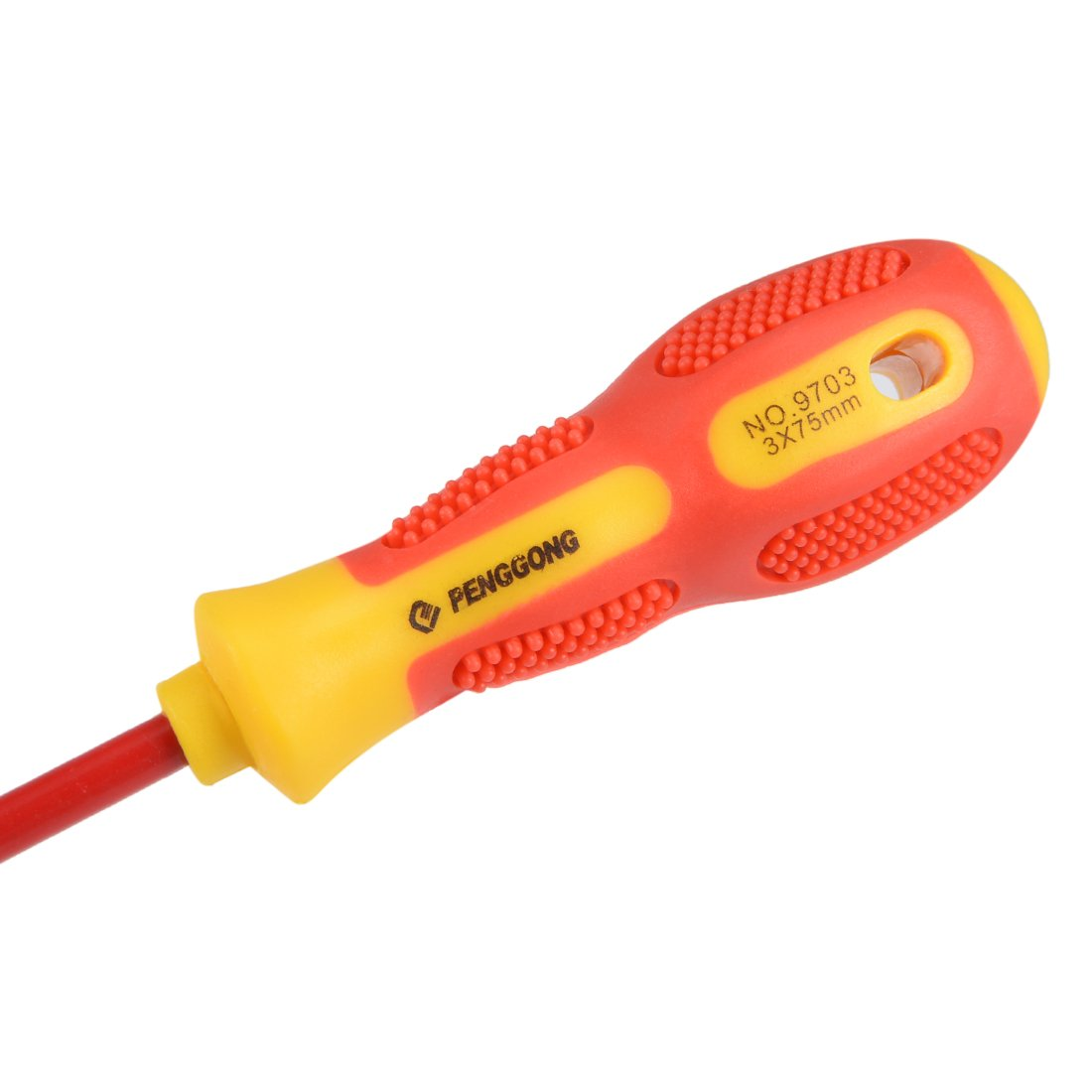 uxcell/® 1000v Slotted Insulated Magnetic Tip Electrical Screwdriver 3mm x 75mm