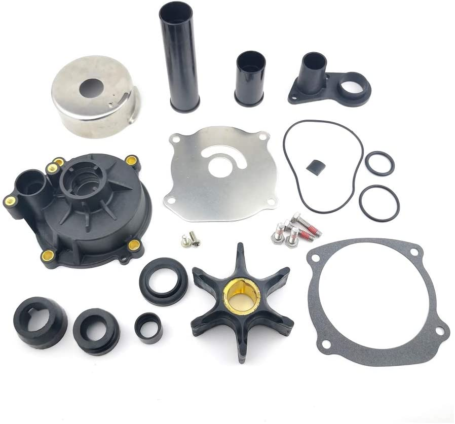 WINGOGO 5001595 Water Pump Impeller Repair Kit with Housing Replacement for 65-300 HP Johnson Evinrude OMC Outboards V6 V8 90 105 115 120 130 140 150 175 Boat Motor Parts 435929