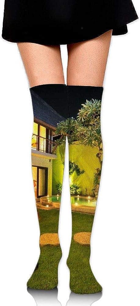 High Elasticity Girl Cotton Knee High Socks Uniform Villa Night Women Tube Socks
