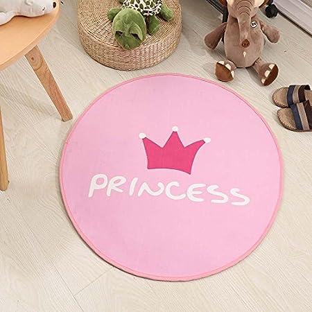 QWKA Net foto roja, alfombra circular, silla para ordenador ...