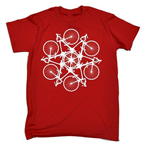 123t Slogans Men's BICYCLE CIRCLE ... KALEIDOSPOKE DESIGN LOOSE FIT T-SHIRT
