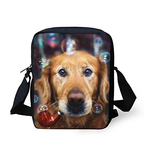 Chaqlin Bulldog Dog Fashion Sac marron Bandoulière qrFxnWrwHY