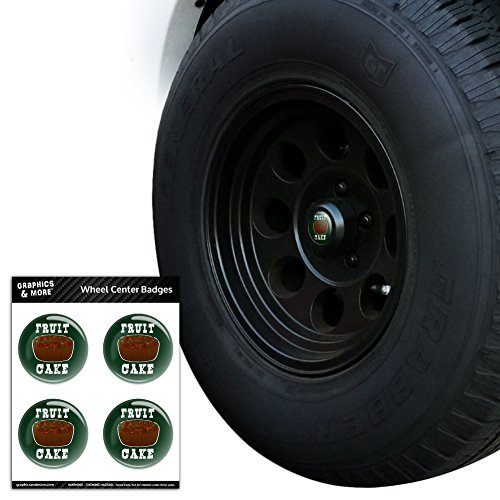 Fruit Cake Tire Wheel Center Cap Resin-Topped Badges Stickers - 3.0