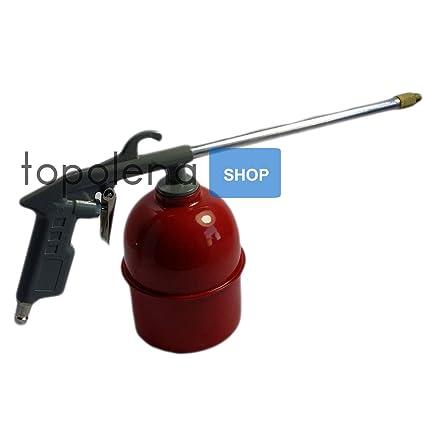 Pistola Lavado Aire Comprimido Para Compresor Depósito 1 lt Fuel Aceite ECC.