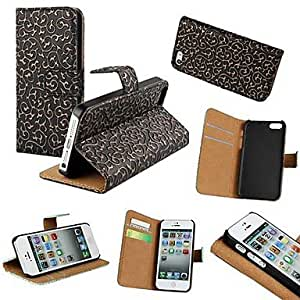 YULIN Court Style PU Leather Full Body Case with Stand and Card Slot for iPhone5/5S (Assorted Colors) , White