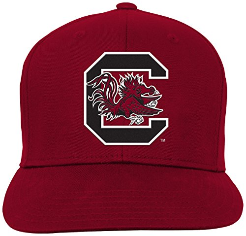 NCAA by Outerstuff NCAA South Carolina Fighting Gamecocks Youth Boys Team Flat Visor Snapback Hat, Garnet, Youth One Size