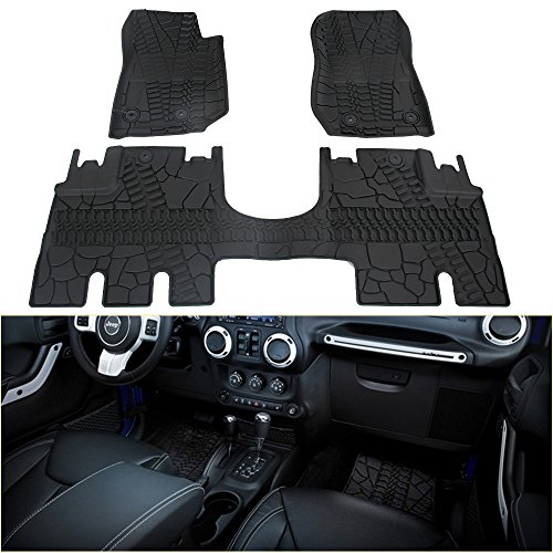 Top Jeep Wrangler Rubber Floor Mats - QP Ratings - IM Car